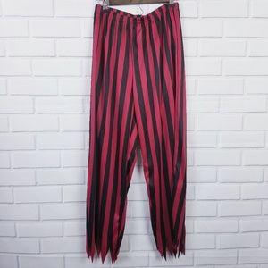🛍️3/$25 Halloween Black Red Striped Pirate Pants